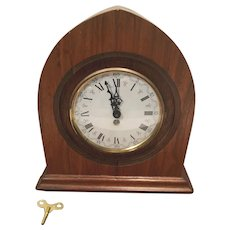 Vintage Shelf Clock - Made in Germany, Radio Like Art Deco Case, Runs
