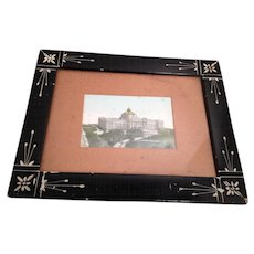 Framed Print of U.S. Congressional Library in Washington, DC (1903 per writing on back of Print)