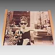 Vtg Audrey Hepburn Poster Breakfast at Tiffany's Poster Tushita Edition