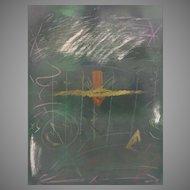 Vintage Lee Newman Print Monoprint 2 Legend # 3 Framed & Matted