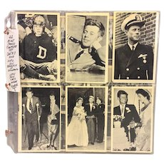 Vintage Set of 47 John F Kennedy & Family Picture Cards with Descriptions 1960s