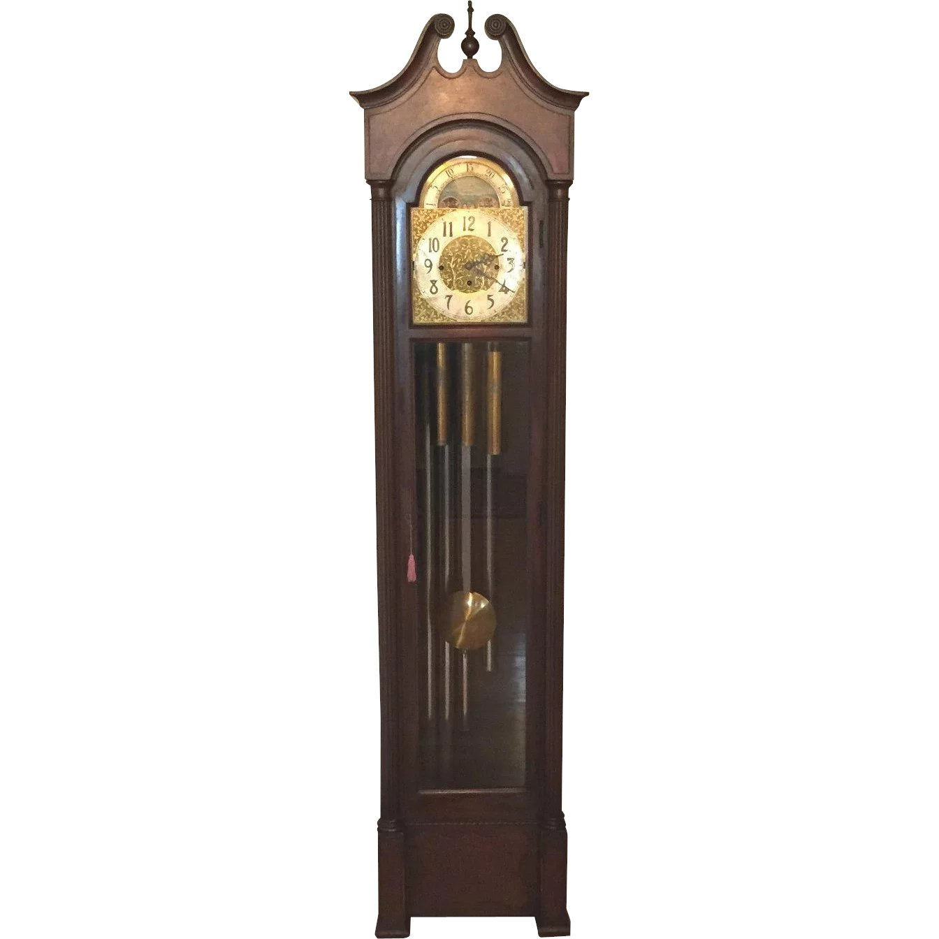 Ant Colonial Grandfather Clock Winterhalder Hofmeier Mvmt 5 Timelesstokensde Ruby Lane