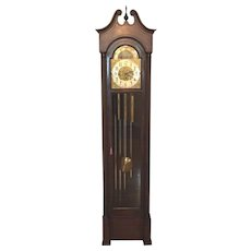 Ant Colonial  Grandfather Clock Winterhalder & Hofmeier Mvmt 5 Tube Chime and Strike Running?  Beautiful Mahogany Wood Case Model # 1628 Latter 1800s to 1908  Item Description