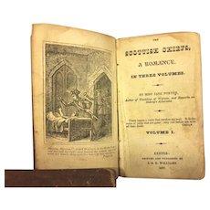 Antique Books 3 Volume Set The Scottish Chiefs A Romance by Miss Jane Porter 1827