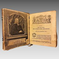Antique German Leather Bound Imprint Book on Theology by Johan Jakob Rambach Sometime After 1735