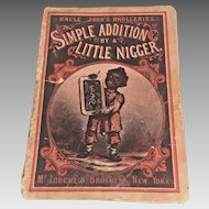 """Antique First Edition Black Americana Book Uncle John's Drolleries """"Simple Addition by a Little Ni__er"""" 1876 McLoughlin Brothers NY"""