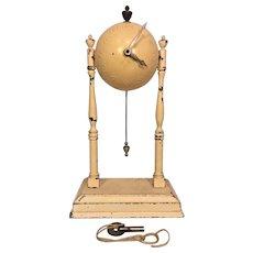 Vintage Globe Column Clock  By Globe Clock Company with Metal Case Runs