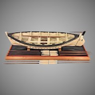 Vintage Wood Model of HMS Titanic Life Boat #14  on Stand Oars, Mast,Sails, Supplies & Rudder