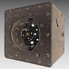 Vintage John E Hand Ship Compass in Metal Case  Philadelphia PA & Baltimore MD