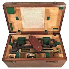 Vintage US Maritime Commission Stadimeter  in Wood Case  Made by Schick Inc of Stamford CT