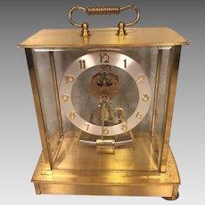Vintage Kieninger & Obergfell German Gold Colored Crystal Regulator Quartz Not Running