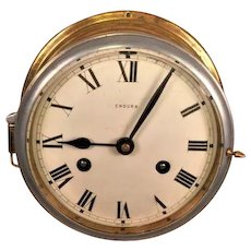 Vintage Endura Brass Ship's Bell Clock Running &  Striking Inconsistently Germany