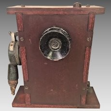 Vintage WWII Era Ship Communication Device Wood & Bakelite Case  Interesting Innards