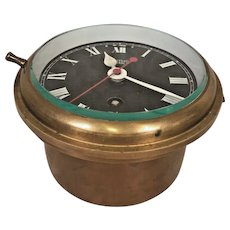 Vintage Smiths Astral Brass Ship Clock Time Only Runs