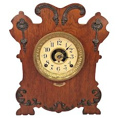 Seth Thomas Art Nouveau Style Case Clock w/ Label Reminder Alarm Model Running