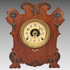 Seth Thomas Art Nouveau Style Case Clock w/ Label Reminder Alarm Model Running