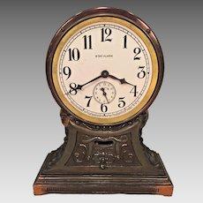 Antique Sessions Art Deco Shelf Clock Runs!  w/ Alarm Forestville, CT