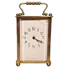 Antique French Carriage Clock Time Only Running
