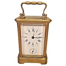 Antique French Carriage Clock w/ Bell Alarm Not Running