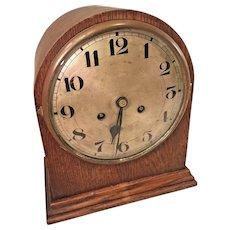 Antique Beehive Clock Mahogany Case Runs Strikes Unmarked Maker Germany