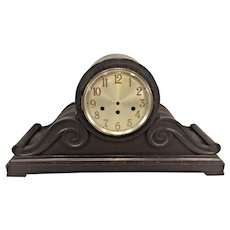 Antique Large Junghans Clock Tambour Case Only Mahogany Germany