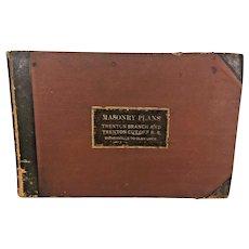 Masonry Construction Plans Book for PRR Railroad Bridge in Trenton, NJ 1890  Trenton Branch and Trenton Cutoff RR  Morrisville to Glen Loch