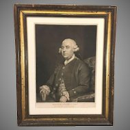 William Strahan Esquire Engraving 1792  John Jones Eng after Painting by Sir Joshua Reynolds