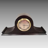 Seth Thomas Tambour Mantel Clock Great Walnut Case Runs