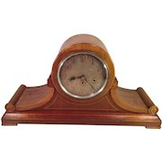 Junghans B21 Mantel Clock Light Mahogany Case Great Face Westminster Chimes Runs Strikes and Chimes