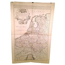 Jaillot Sanson 1692 Large Antique Map of France Spain and Provinces