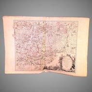Robert De Vaugondy 1752 Large Map of Belgium Brabant Meridional from 1752 Atlas?