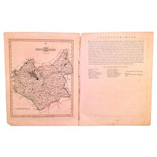 John Cary 1809 Map of Leicestershire from New and Correct English Atlas