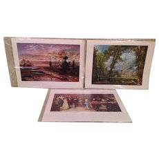 3 Prints of Famous Paintings Still in Original Film Wrapping from the UK in 1971
