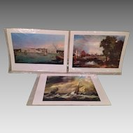 3 Famous Painting Prints Still in Original Film Wrapping from the UK in 1971