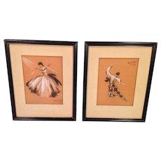 Ballet Dancer Drawings by Alverda Zemalis Kae Listed Handicapped Artist