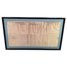 1828 Indenture Document in Frame Joseph Dugan from the Gibsons (James - a lawyer) for Piece of Property in Philadelphia on Locust Street