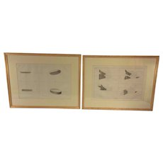Antique Pair of 1761 Joshua Kirby Perspective of Architecture Engraving Plates 10 and 42 Professionally Matted and Framed