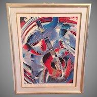 Martiros Manoukian Acrylic Serigraph - Cadences Ltd Ed Signed and Numbered