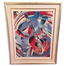 Martiros Manoukian Acrylic Serigraph - Cadences Ltd Ed Signed and Numbered