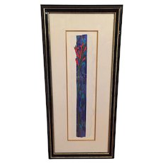 Alex Echo Ltd Edition Serigraph (218/250) Pineapple Sage Passion Flowers Framed  & Matted by Wentworth Gallery in Miami