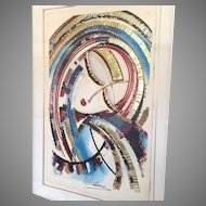 """Martiros Manoukian Acrylic Serigraph on Parchment Artist Proof """"Icon"""" 16 of 25 Framed/Matted"""