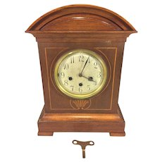 Antique Junghans Bracket Clock w/ Inlaid Wood Case B07 Westminster Chimes - Running Striking & Chiming
