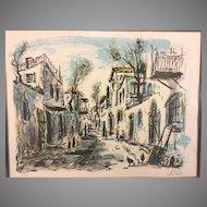 S Raphuel Limited Edition Print 177/250  Village Street Scene