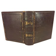 Antique 1873 Holy Bible Publ Miller's Bible & Publishing House Philadelphia PA
