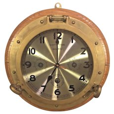 Ships Time Quartz Clock Mounted in Port Hole with Barometer, Thermometer, Hygrometer Clock Not Working from Estate of Former MD Governor Marvin Mandel