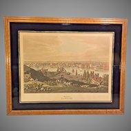 Vtg Original Raoul Varin Pencil Signed Limited Edition Proof of 1831 Baltimore MD Aquatint  Federal Hill Framed 1931 Printed by A Ackermann & Son of New York