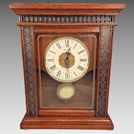 Vtg Seiko Quartz 6 Melodies Shelf Clock Musical Chime Running Gold Ball Feet  Model MS Xw222-1
