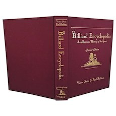 The Billiard Encyclopedia   An Illustrated History of the Sport  by Victor Stein & Paul Rubino 2nd Edition 1996 w/ Dust Cover