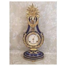 Vintage Marie Antoinette Clock Running & Striking Franklin Mint Piece w/ Original Box