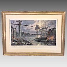 John Stobart Limited Edition Print   Baltimore Federal Hill and the Marine Observatory in 1872  1994 Professionally Framed & Matted #418/950